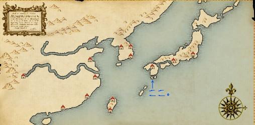 東アジア地図。
