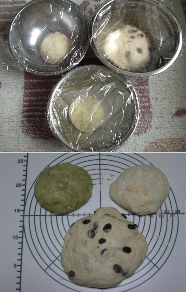 一次発酵中→成型前