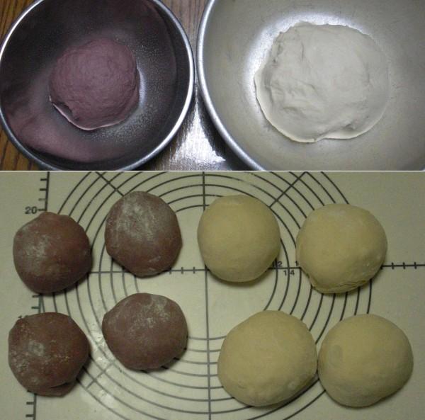 一次発酵前→生地分割